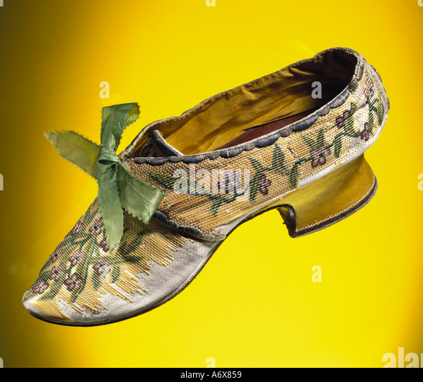 Woman's Shoe. Britain, mid 18th century. - Stock-Bilder