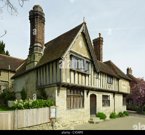 Penshurst, Kent, Leicester Square cottages - Stock Image