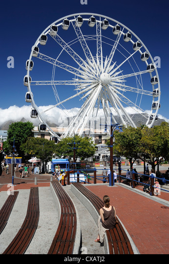 Ferris wheel, the Waterfront, Cape Town, South Africa, Africa - Stock Image