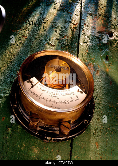 Instrument Current Electricity : Electric current measuring instrument stock photos