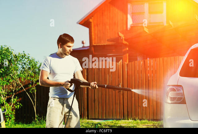 Car washing - Stock Image