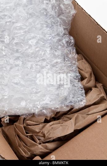 packing material close up shot - Stock Image