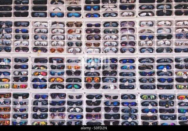 Sunglasses Grid - Stock Image