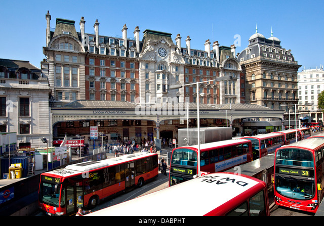 victoria bus station stock photos victoria bus station. Black Bedroom Furniture Sets. Home Design Ideas