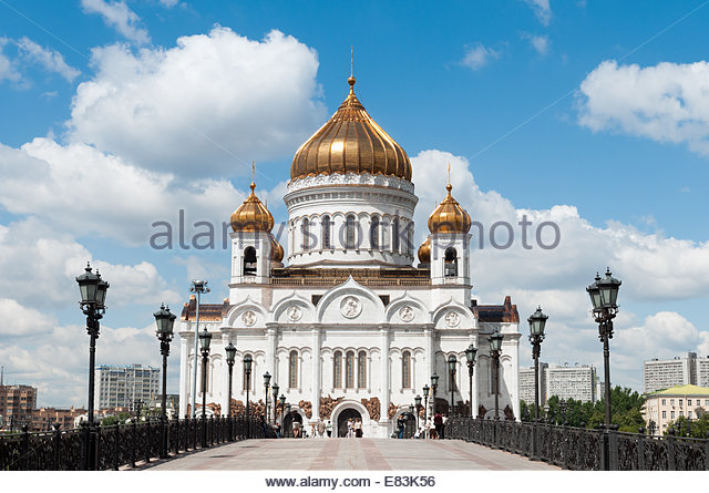 Cathedral of Christ the Saviour, Moscow, Russia - Stock Image