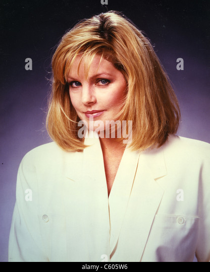 PRISCILLA PRESLEY US film actress about 1980 - Stock Image