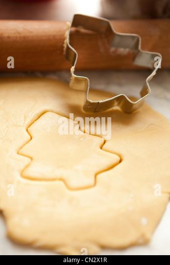 Christmas tree shaped cookie - Stock Image