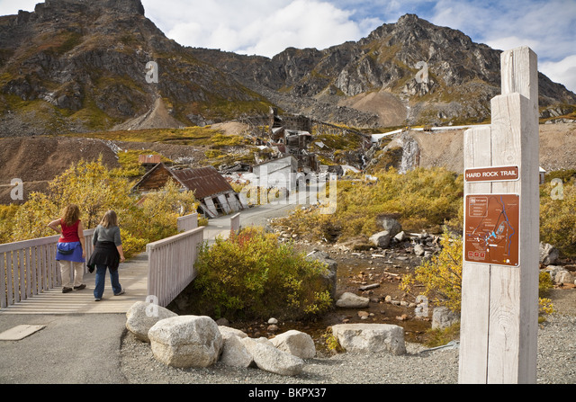 at Independence Mine. Hatcher Pass area, Matanuska Valley, Fall / Autumn Southcentra, Alaska MR - Stock Image