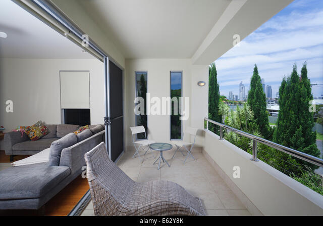Stylish apartment stock photos stylish apartment stock for Balcony overlooking city