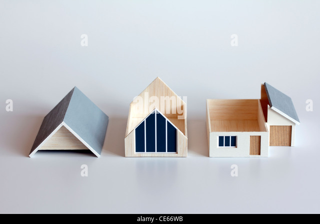 Sections of a model house - Stock Image