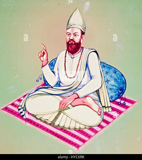 twentieth acharya shree prem saheb, kabir math, varanasi, uttar pradesh, Asia, India - Stock Image
