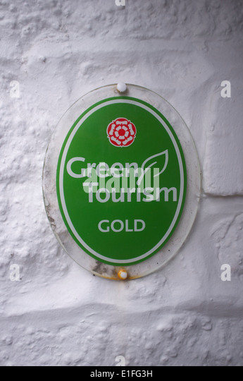 Green Tourism gold from Visit England (the English tourist board) - Stock Image