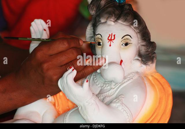 Ganpati Painting Stock Photos & Ganpati Painting Stock