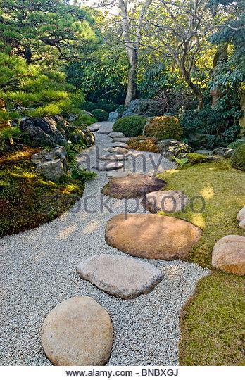 Japanese Garden at Adachi Museum, Shimane Prefecture, Japan. - Stock Image