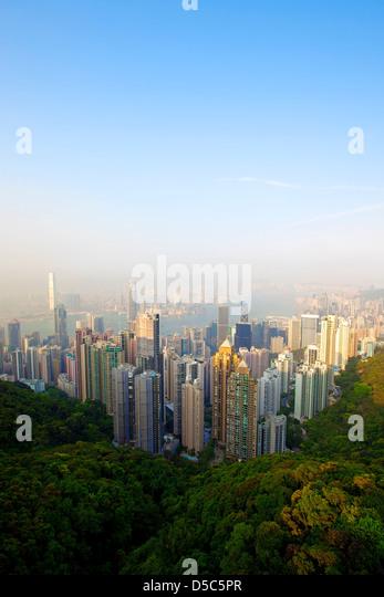 Honk Kong Skyline - Stock Image