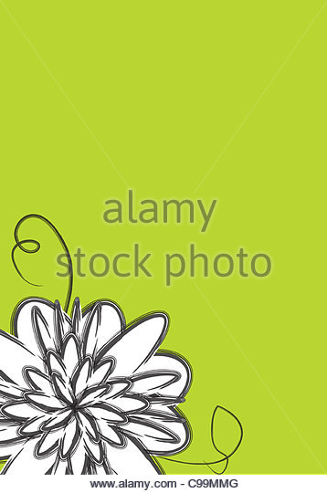 Flower in eck - Stock Image