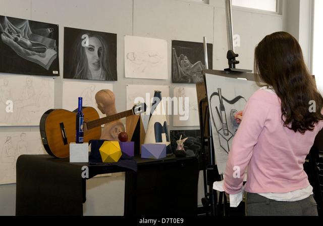 still-life art class - Stock-Bilder
