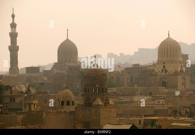 Egypt, Old Cairo, City of the Dead (Northern Cemetery) - Stock Image