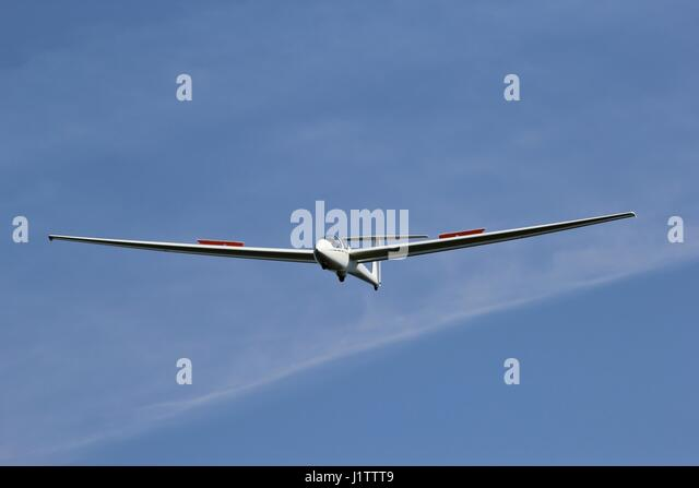 glider just before landing - Stock Image