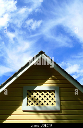 Boat House Architectural Detail : Roof peak stock photos images alamy