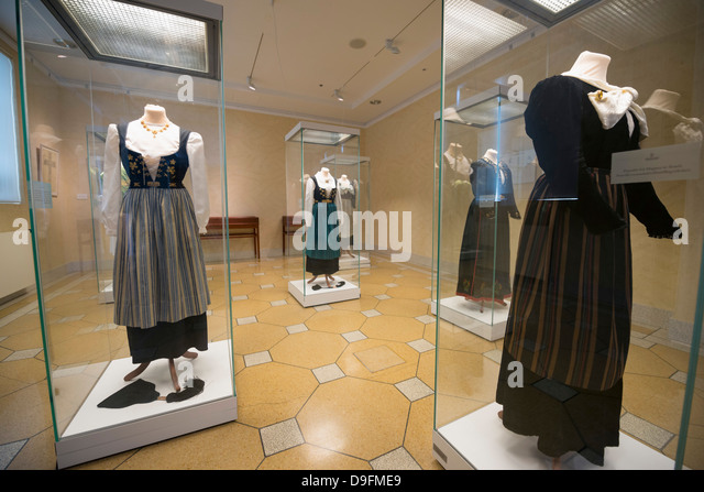 Display of traditional clothing, National Museum, Reykjavik, Iceland, Polar Regions - Stock Image