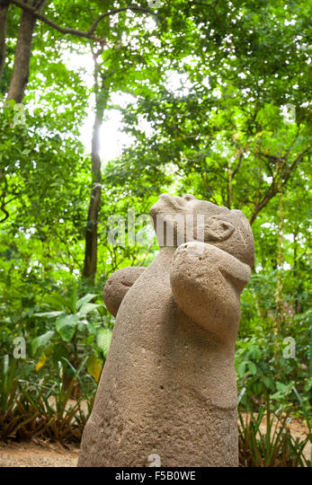Olmec stone heads stock photos