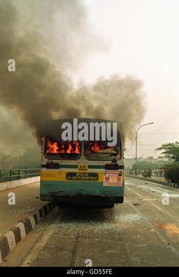 Violent demonstration - Stock Image
