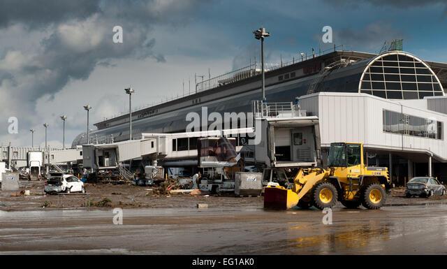 Sendai Airport TsunamiStock Photos and Images