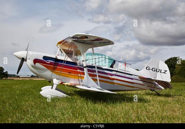 Christen Eagle, reg G-GULZ, at Stoke Golding - Stock-Bilder