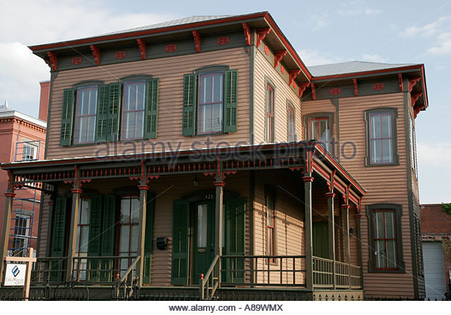 Alabama Montgomery Old Alabama Town Gallagher House 1882 Italianate - Stock Image