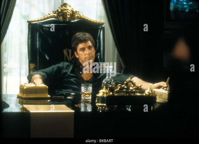 Scarface film still stock photos scarface film still for Occhiali al pacino scarface