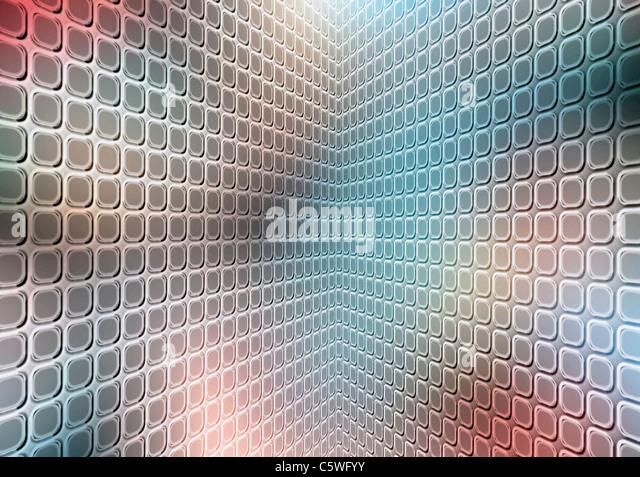 Perspective tile, full frame - Stock Image