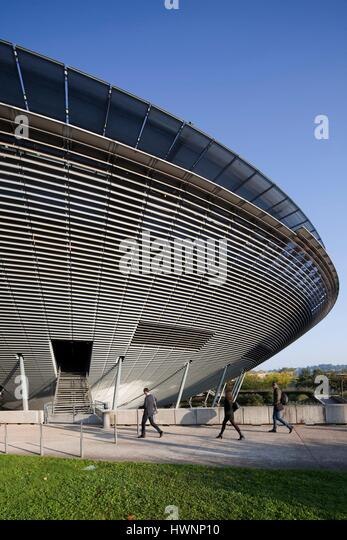 France, Rhone, Lyon, The International Cité. The amphitheater - Stock-Bilder