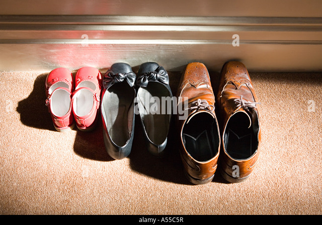 Shoes of a family - Stock-Bilder