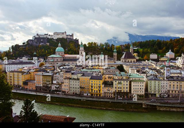 View of Salzburg in October - Stock-Bilder