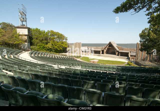 The Lost Colony outdoor drama play Historic Waterfront Theater Manteo Roanoke Island North Carolina Outer Banks - Stock Image