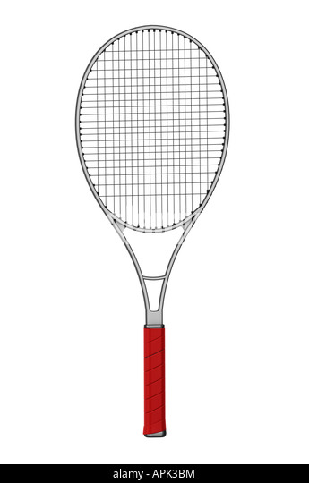 Tennis racquet racket - Stock Image