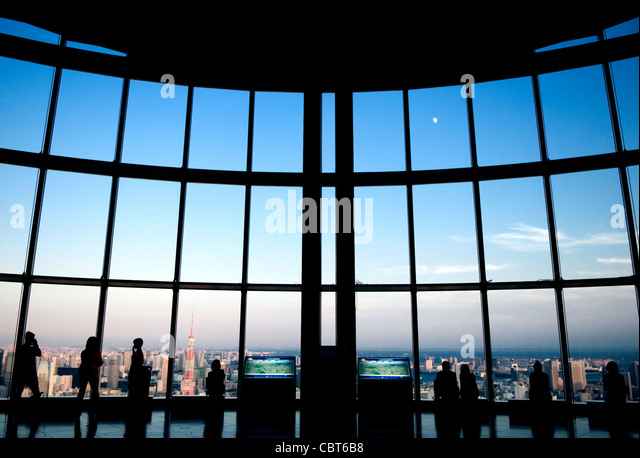 Tokyo City View Mori Building Tokyo Japan - Stock Image