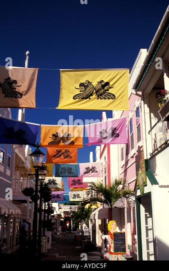 St Maarten Shopping Old Street - Stock Image