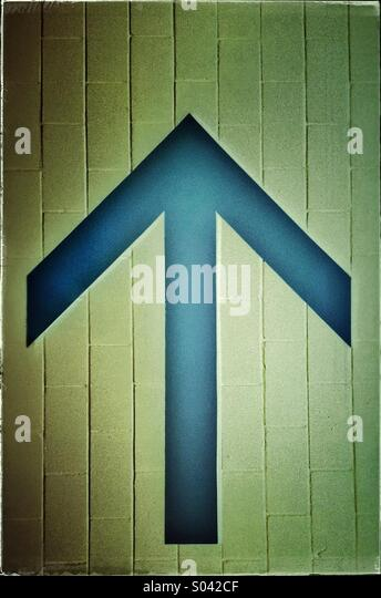 Up arrow sign - Stock Image