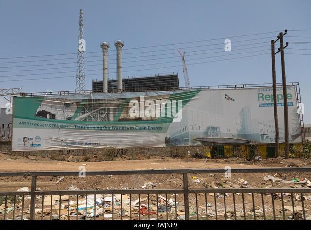 Clean energy factory in Koshe rubbish dump, Addis Ababa region, Addis Ababa, Ethiopia - Stock-Bilder