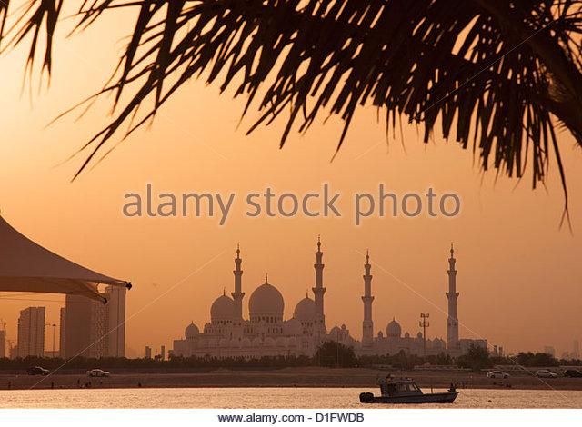 Sheikh Zayed Mosque, Abu Dhabi, United Arab Emirates, Middle East - Stock-Bilder