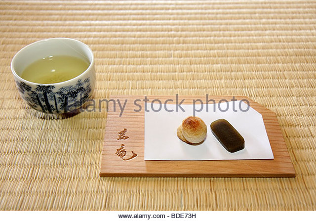 Michigan Saginaw Japanese Cultural Center & and Tea House art heritage tea ceremony Sado tradition desert tenshin - Stock Image