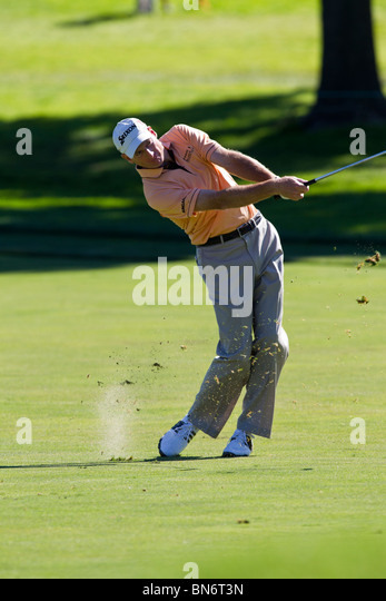 Jim Furyk competing at the 2010 AT&T National - Stock Image