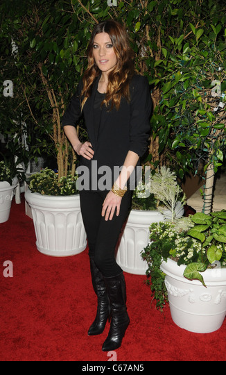 Jennifer Carpenter at arrivals for QVC Red Carpet Style Party, Four Seasons Hotel, Los Angeles, CA February 25, - Stock Image