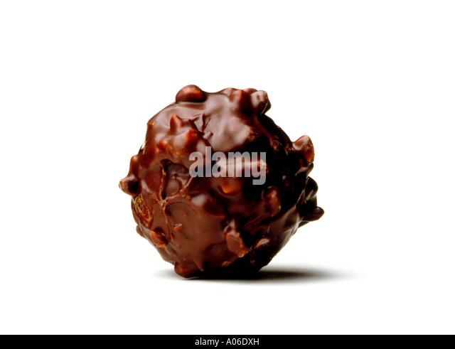 DARK CHOCOLATE TRUFFLE - Stock Image