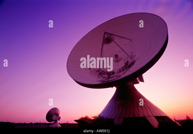 Satellite Communication Station, Raisting, Germany - Stock Image