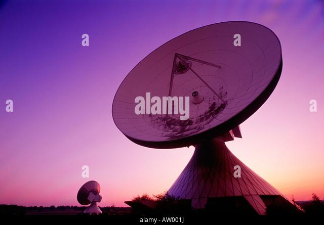 Satellite Communication Station, Raisting, Germany - Stock Image