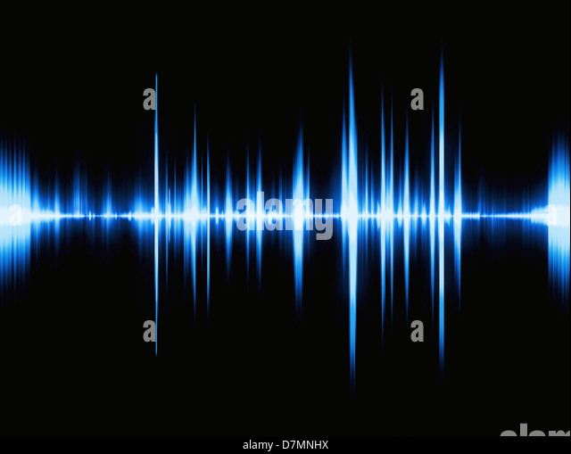 Sound waves, artwork - Stock Image