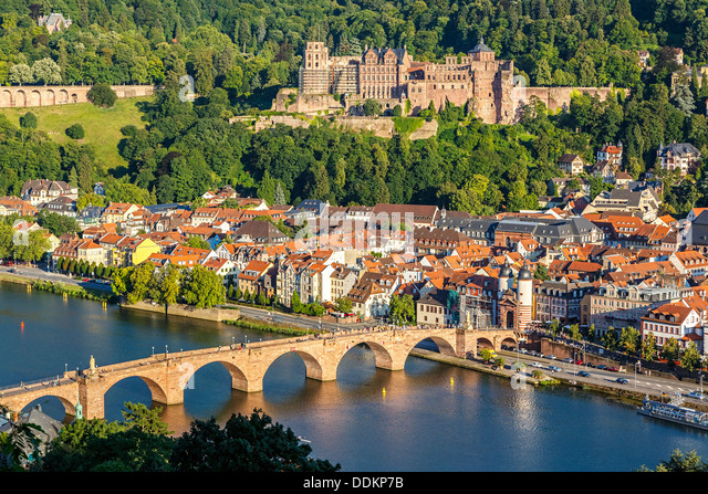 View on Heidelberg - Stock Image